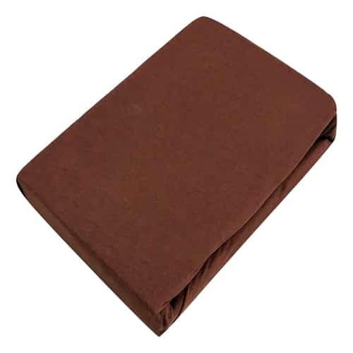 prémium jersey gumis lepedő barna színben