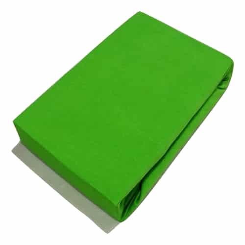 prémium jersey gumis lepedő zöld színben