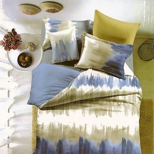 festett hatású kék sárgás szín ágyneműhuzat