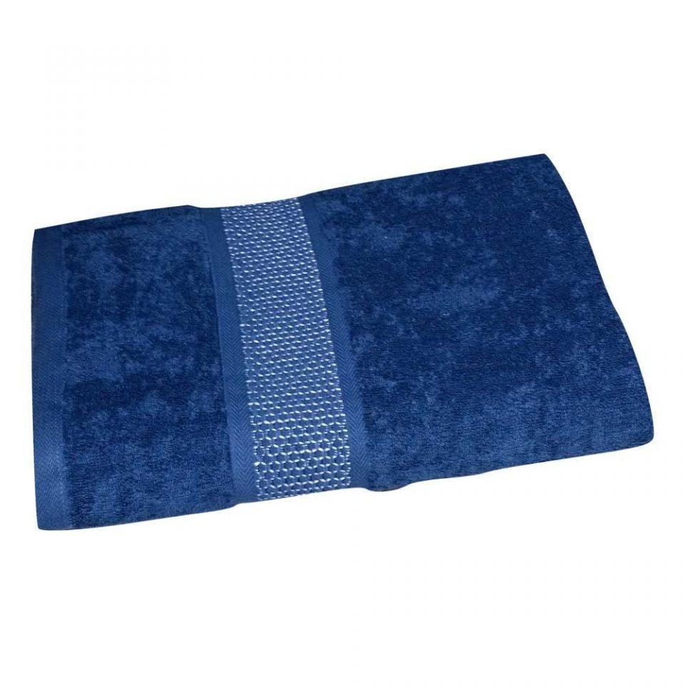 frottír törölköző kék színben közepes méret
