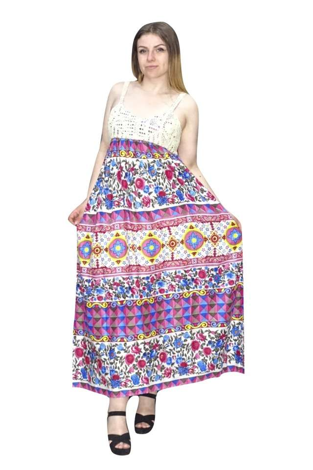 nyári maxi ruha indiából egyedi mintával