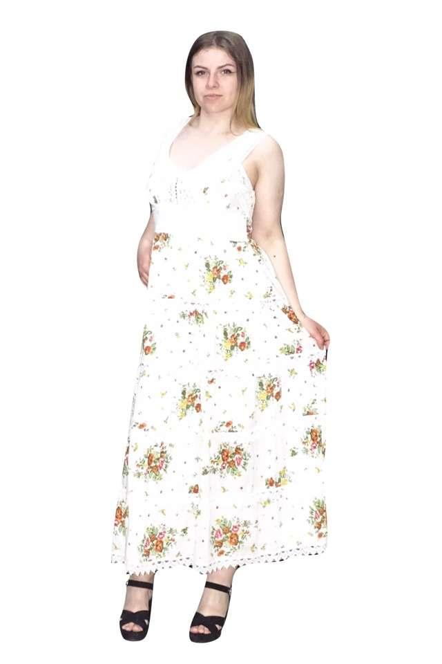pamut maxi ruha apró virágos mintával