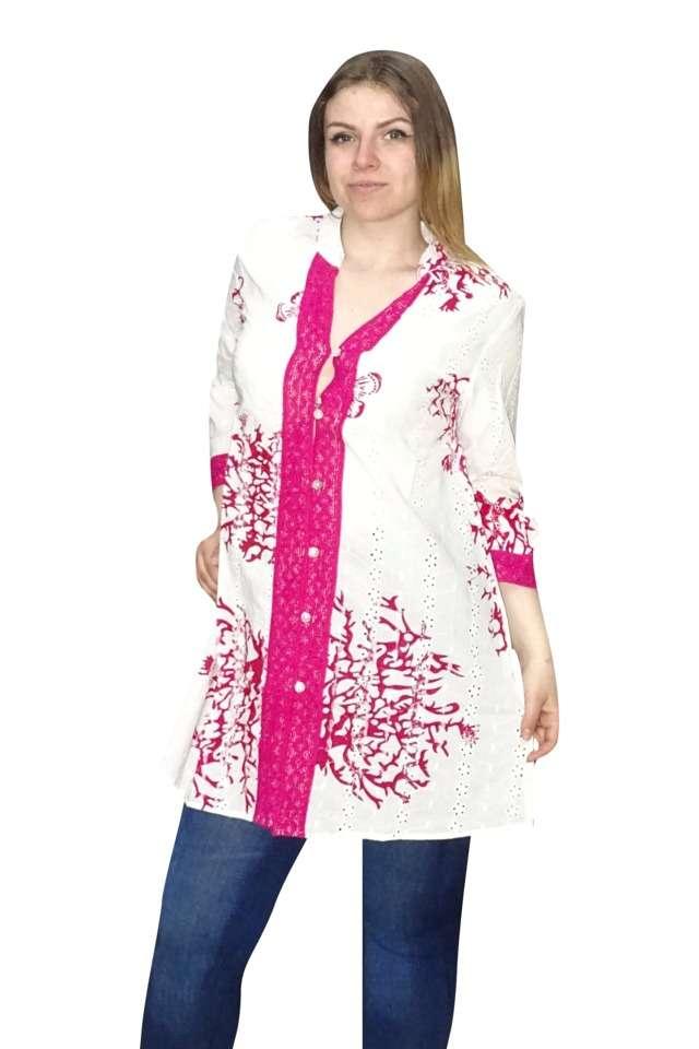 pamut nyári ing indiából pink színben