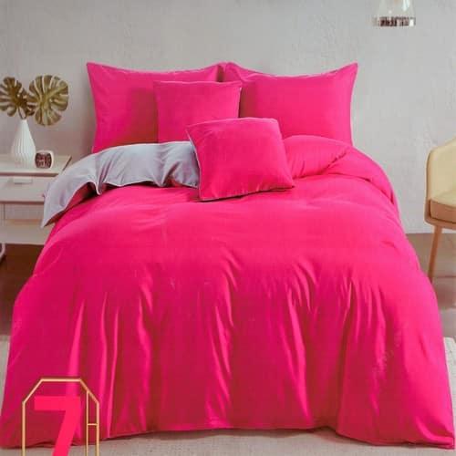 pink és krém színben pamut ágyneműhuzat
