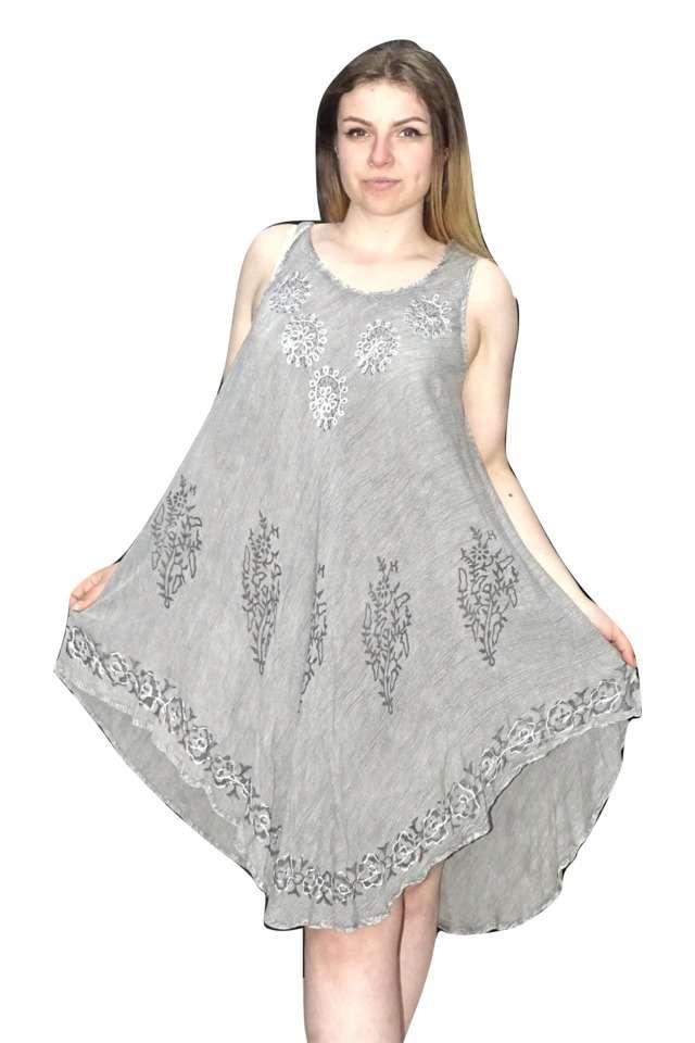 szürke színben rövid nyári ruha indiából