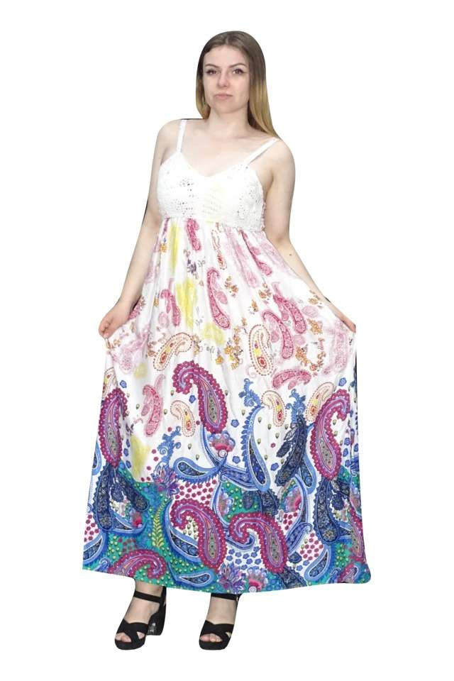 vékony pántos maxi nyári ruha indiából