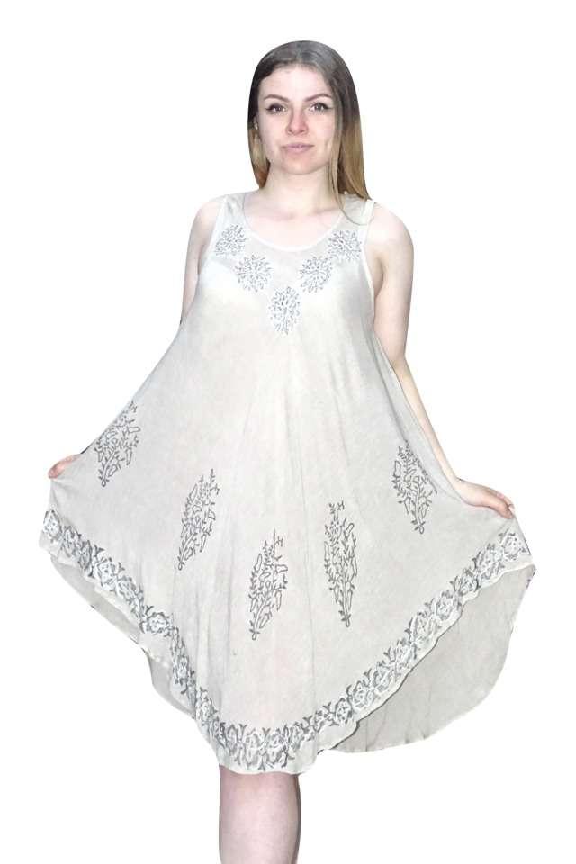 világos színben rövid nyári ruha indiából
