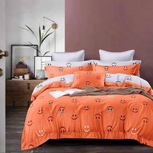 Krepp Ágynemű Narancs Smile Minta