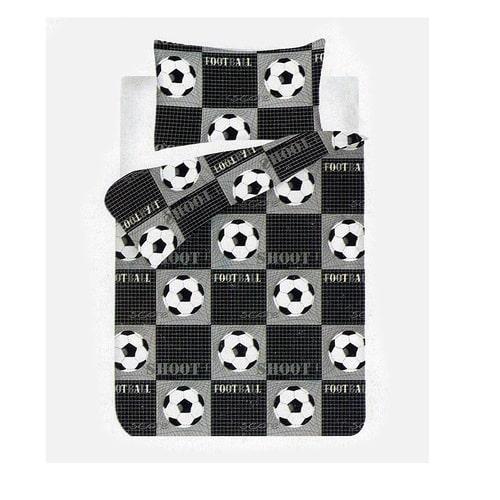 fekete színben foci labdás pamut ágyneműhuzat