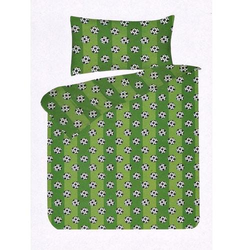 foci labdák zöld színben pamut ágynemű