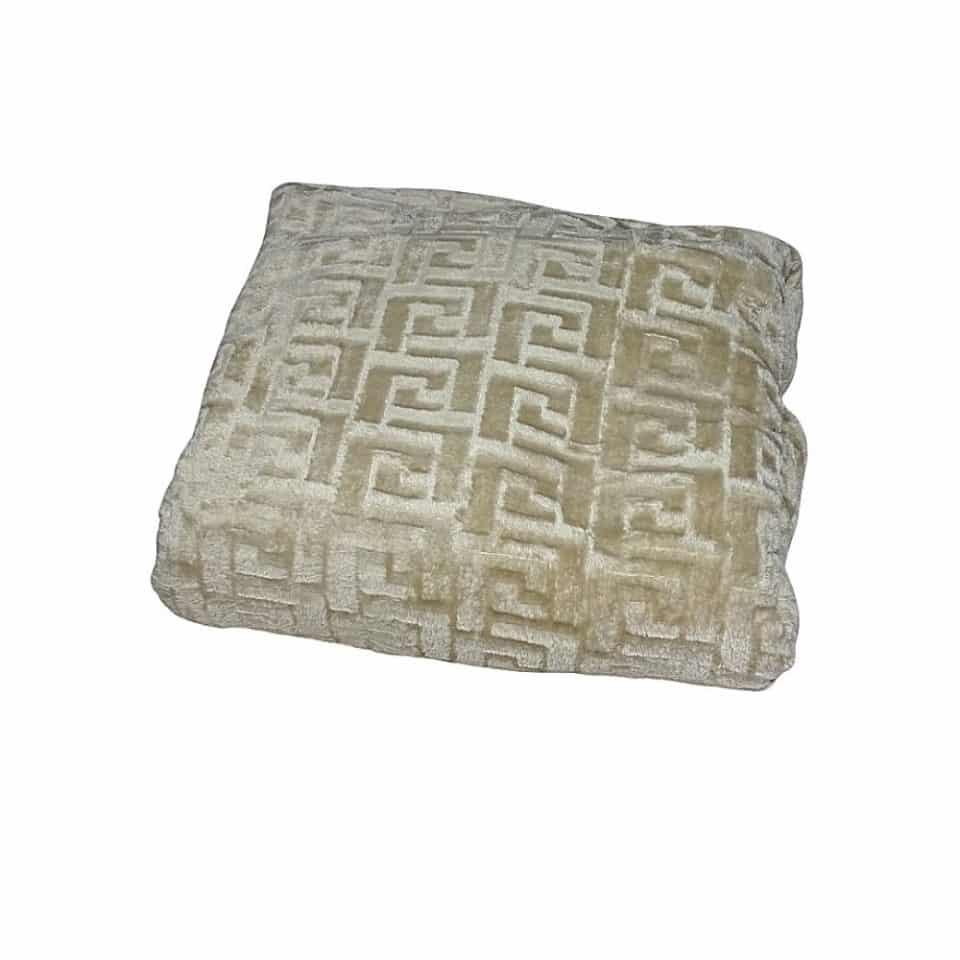 mintás drapp színű puha pléd takaró