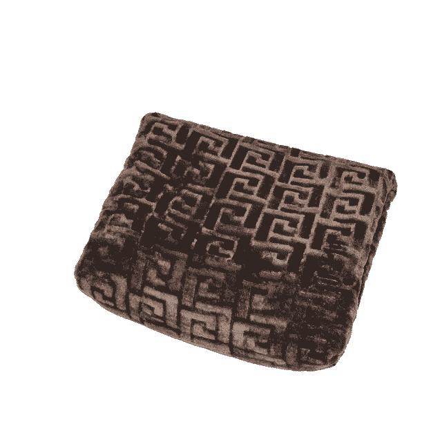 mintás pléd barna színben puha takaró