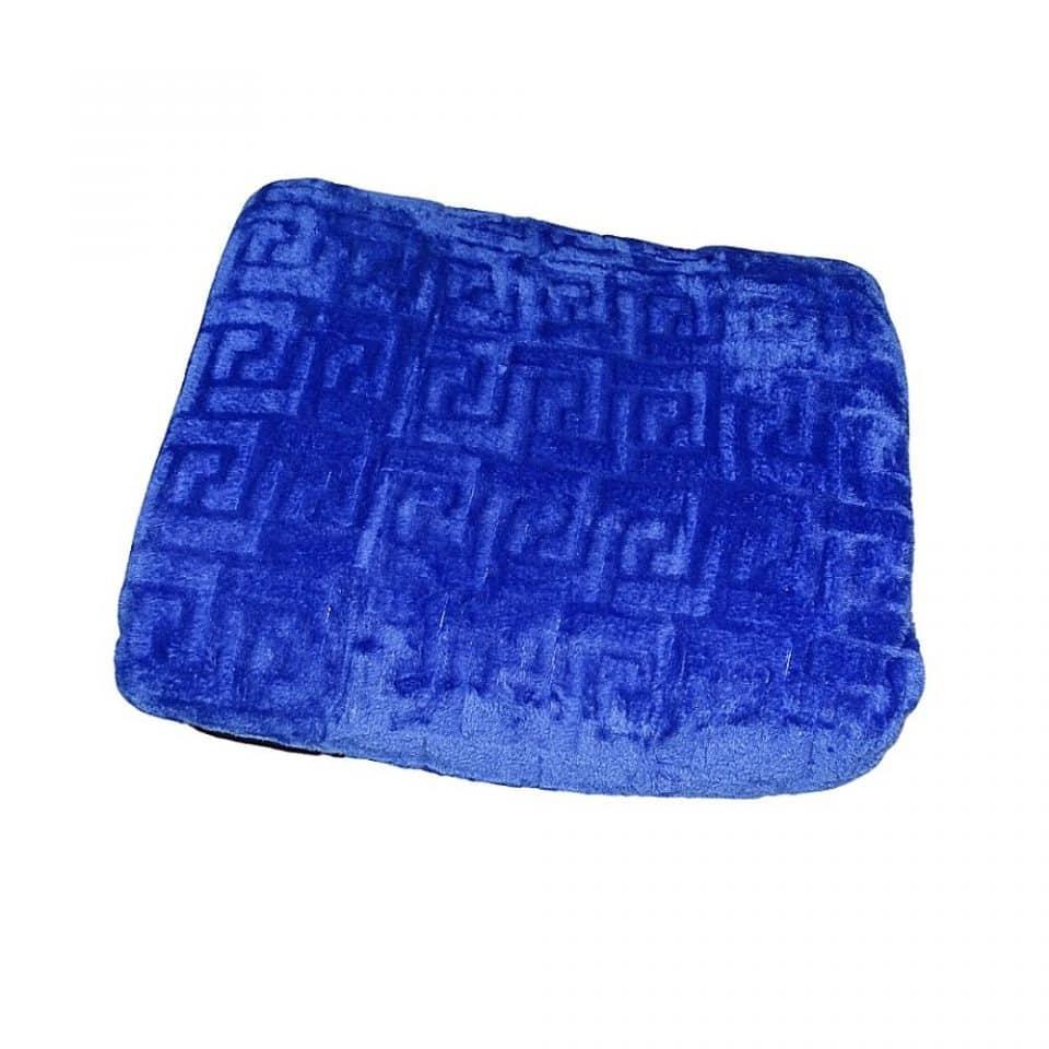 mintás puha kék színű pléd takaró