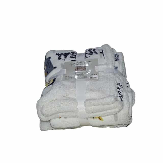 mintás puha takaró és párna fehér szín