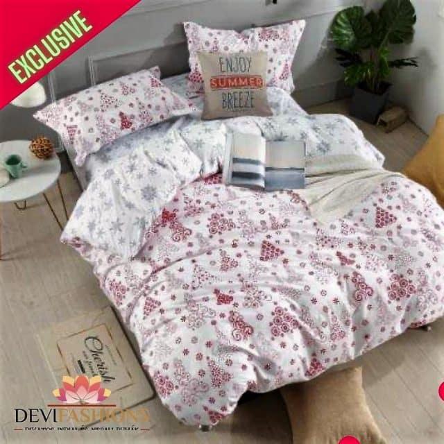 pamut ágynemű fehér alapon karácsonyi minta