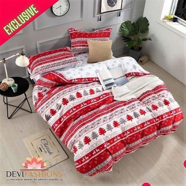 pamut ágynemű piros fehér csíkos mintával