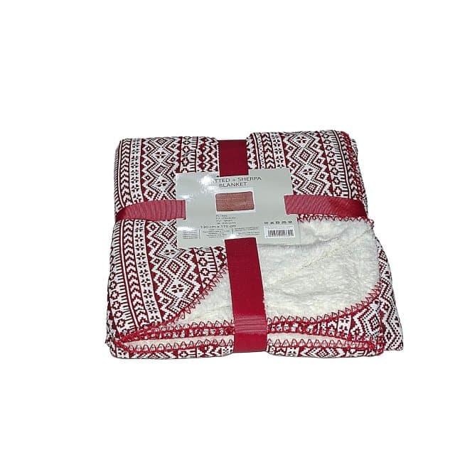 piros mintás fehér takaró kis méret puha