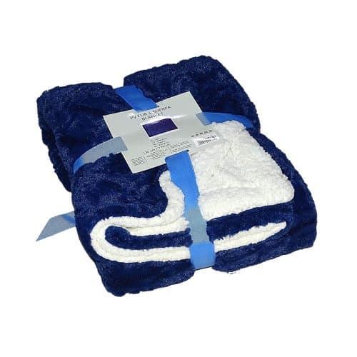 puha takaró fehér kék szín mintás kis méret