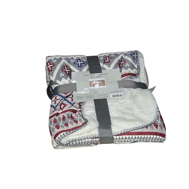 puha takaró karácsonyi minta fehér színben kis méret