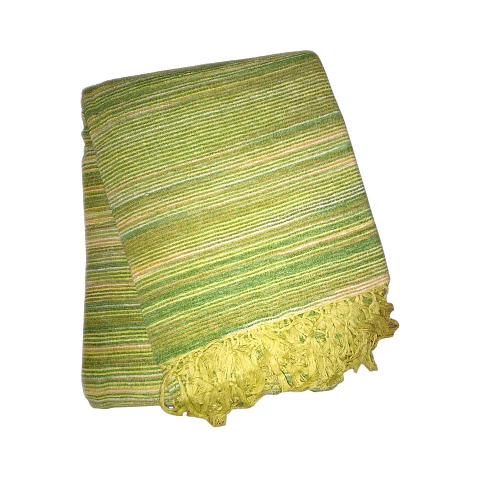 zöld csíkos indiai takaró választható méret