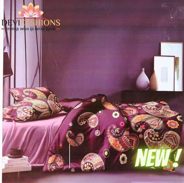 bordó pamut ágynemű mandala jellegű mintával
