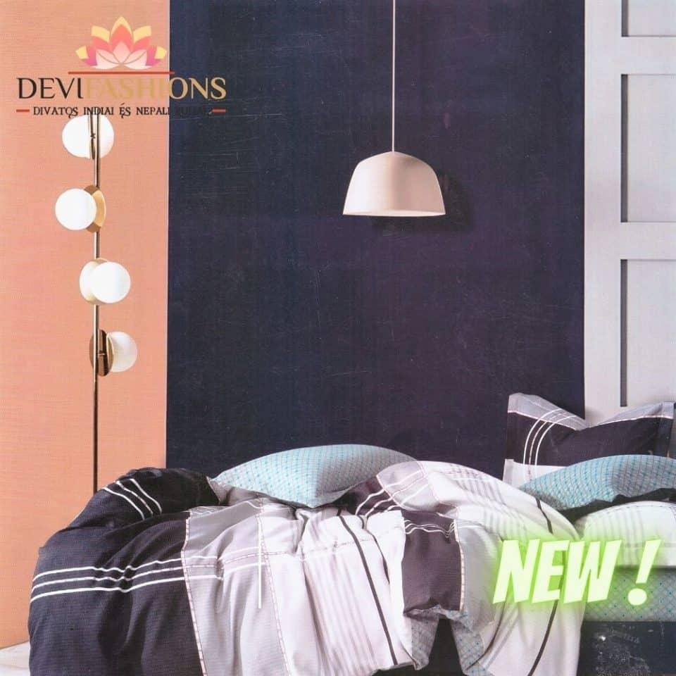 sötét és világos négyzetes pamut ágynemű