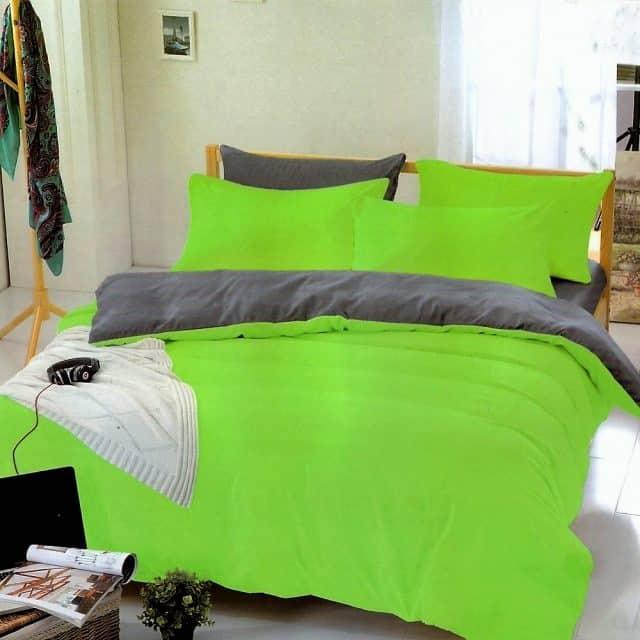 neon zöld pamut ágyneműhuzat választható méret