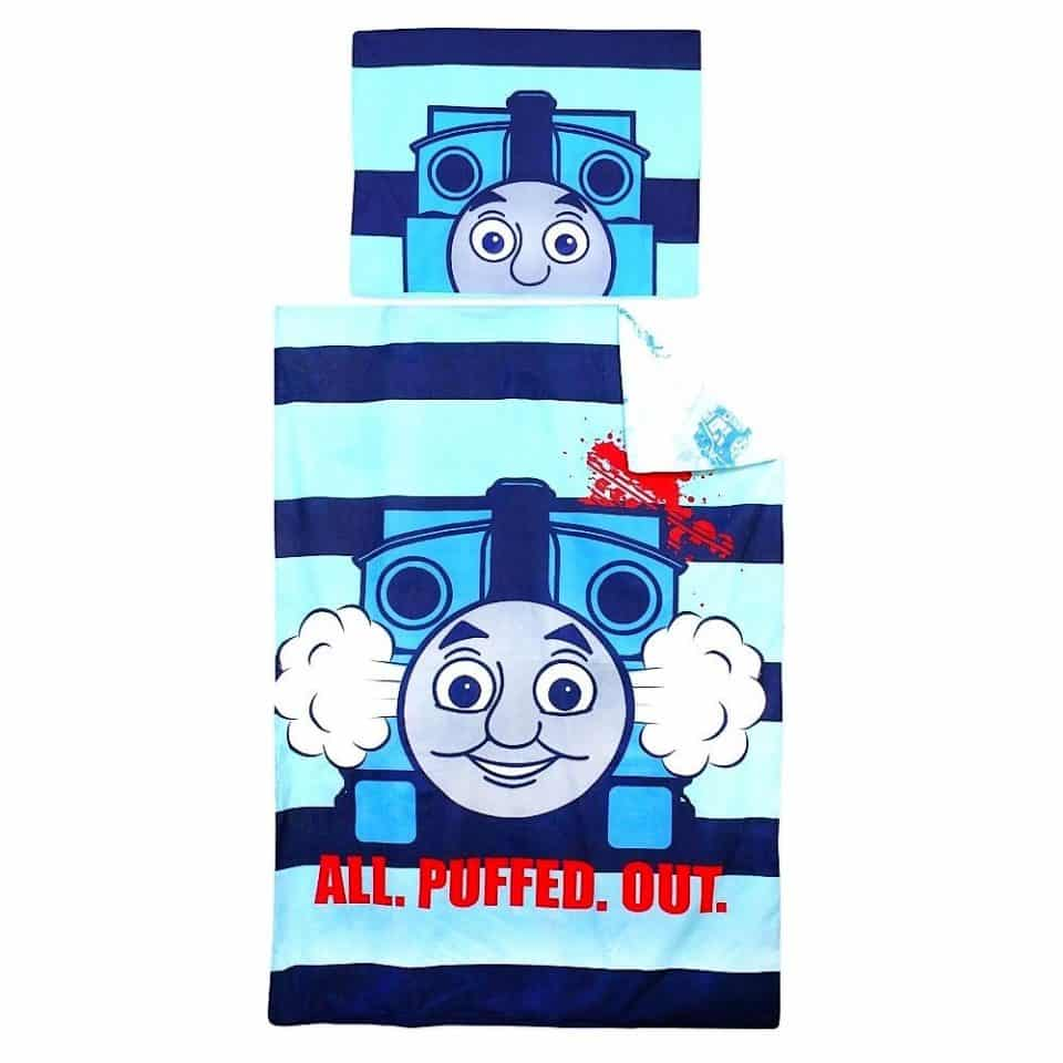 pamut ágynemű Thomas&Friend kék színben