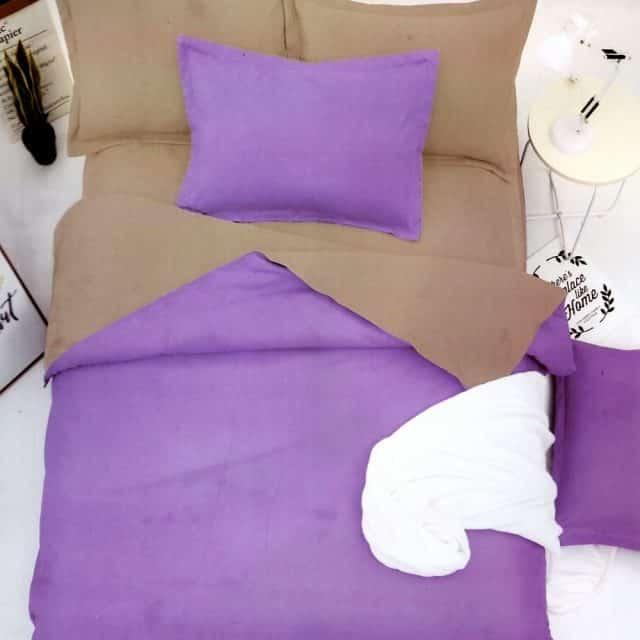 pamut lila ágyneműhuzat egyszínű választható méret