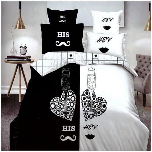 női férfi oldal pároknak pamut ágynemű