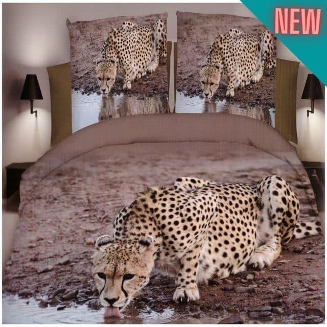 pamut ágynemű leopárd a parton minta