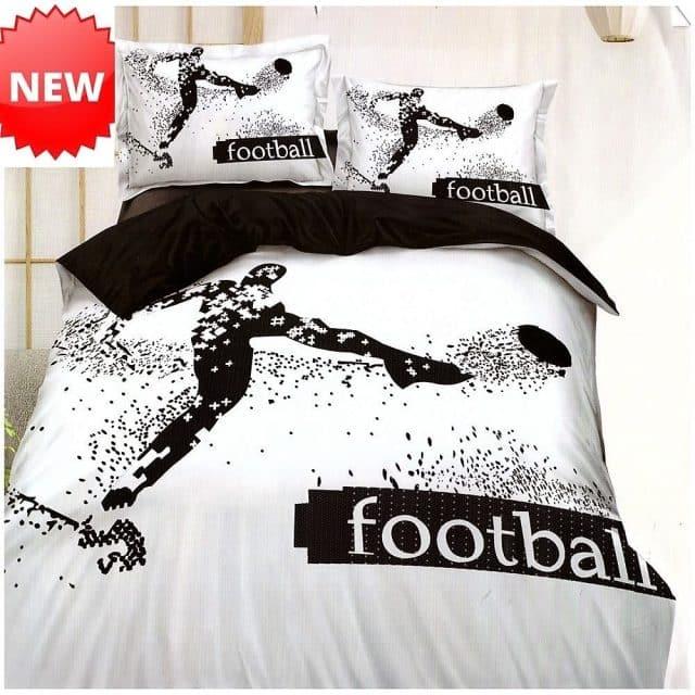 pamut ágyneműhuzat football felirattal és játékossal