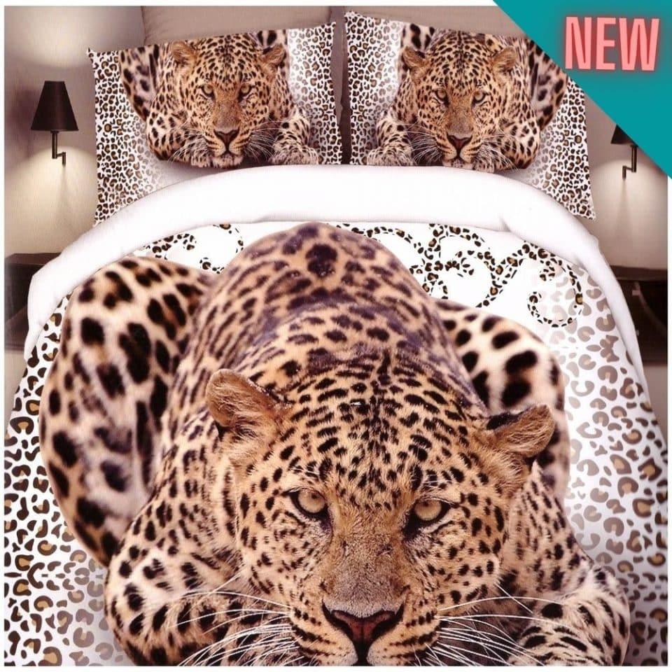 pamut fehér lapon leopárd mintával