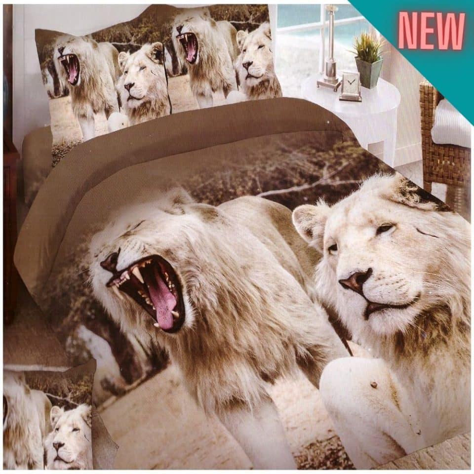 pamut oroszlánok mintás ágyneműhuzat
