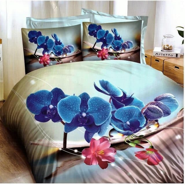Ágyneműhuzat Kék Virágokkal
