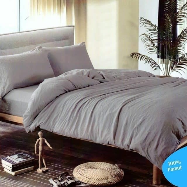 egyszínű pamut ágyneműhuzat minta nélkül