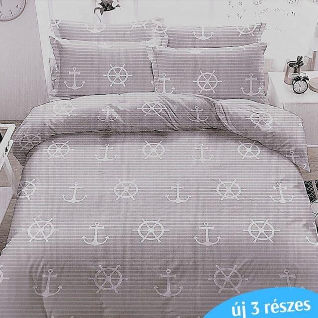matróz minta szürke színben ágyneműhuzat