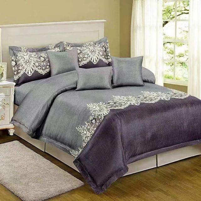 Szürke alapon klasszikus minta pamut ágynemű