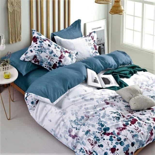 klasszikus virágokkal fehér alapon ágynemű