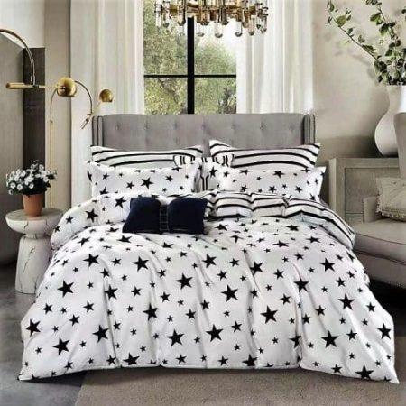 Ágynemű Fekete Fehér Csillagokkal
