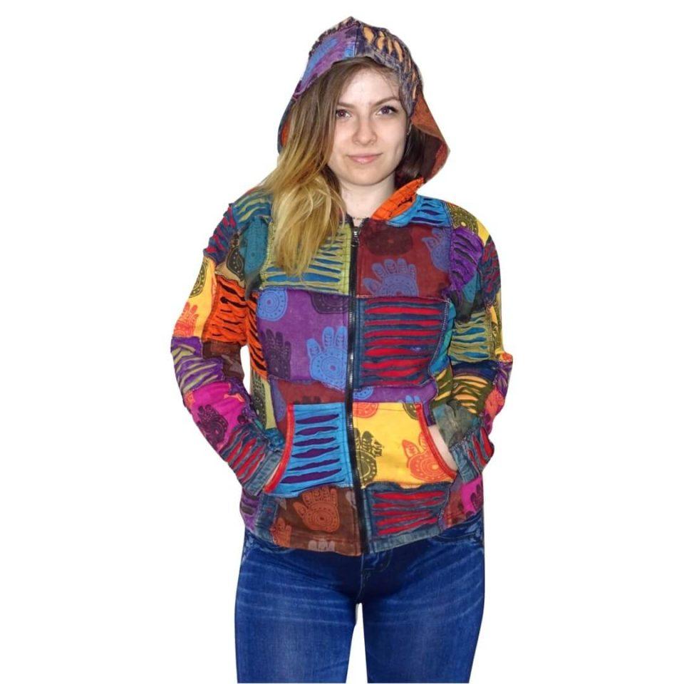 Női Kabát Színes Kockás