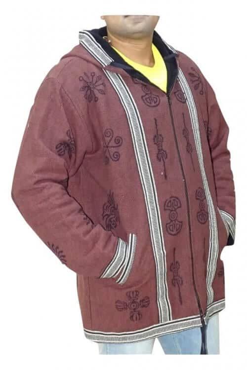 Kabát Férfi Keleti Motívumokkal