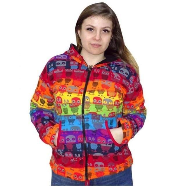 Kabát Nőknek Szivárvány Bagoly