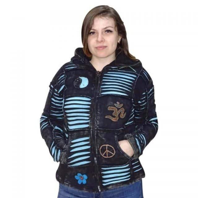 Női Kabát Türkiz OM