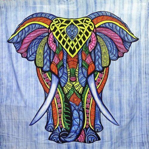 Falvédő Elefánt Kék Szín