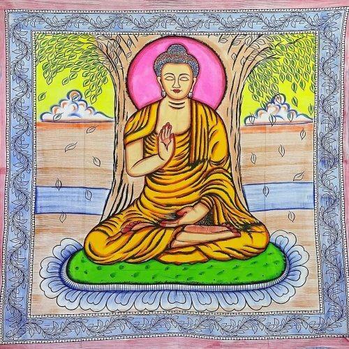 Falvédő Buddha Naplementében