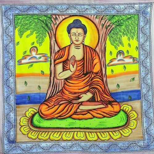 Falvédő Buddha Középen