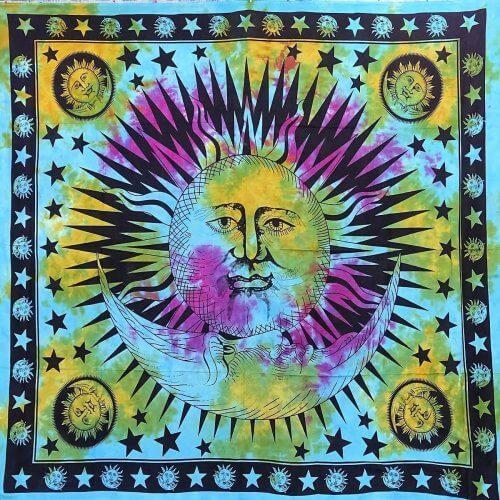 Falvédő Kék Lila Nap