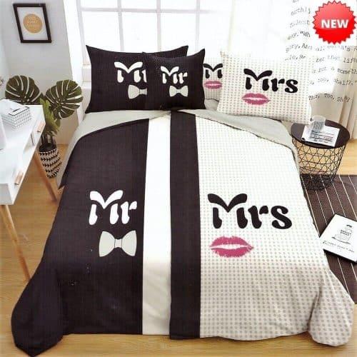 Ágynemű Fekete Fehér Mr Mrs