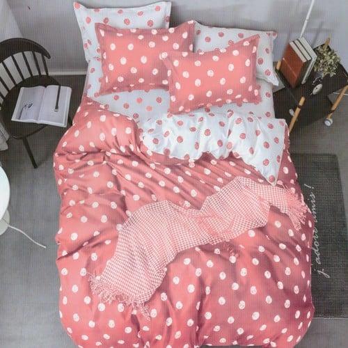 Ágynemű Rózsaszín Fehér Pöttyös